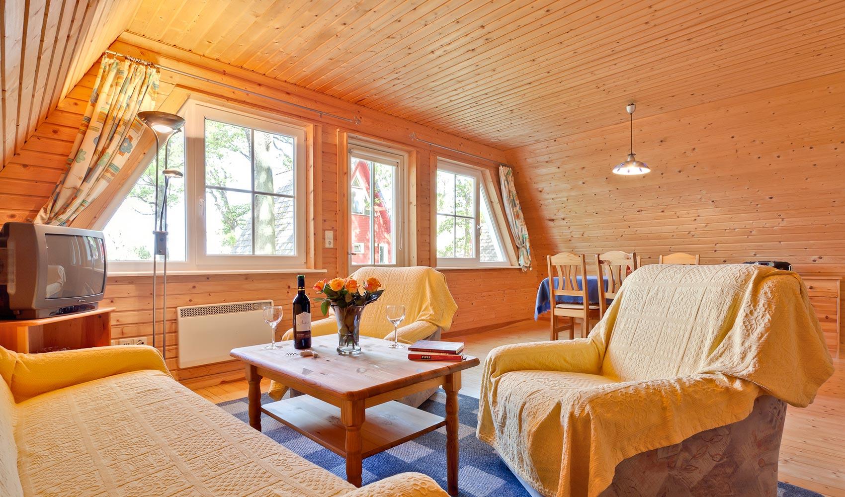 Wohnzimmer - Ferienanlage Rana Rike auf Rügen